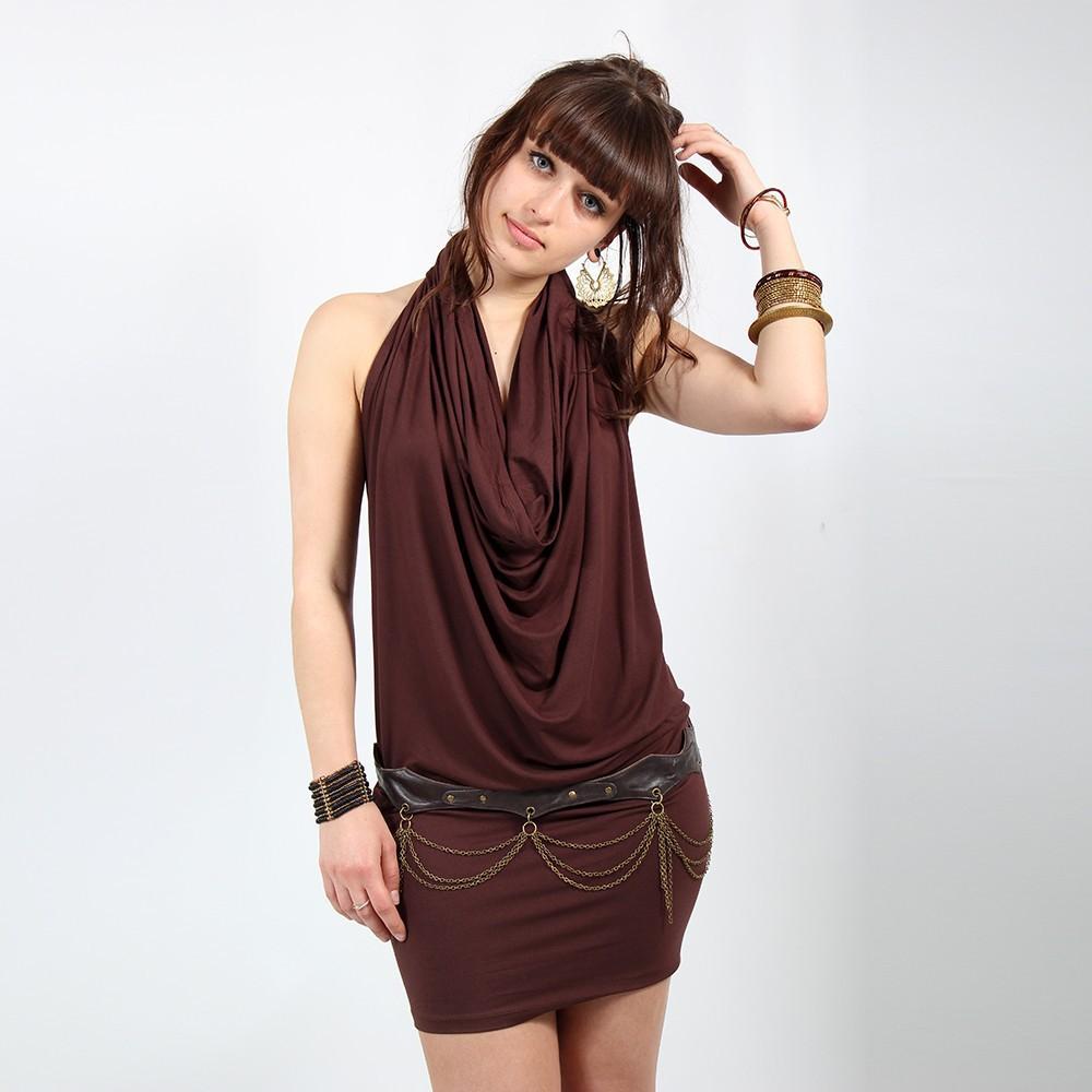 """I See \""""Kazyah\"""" dress, Brown"""