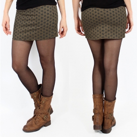 "\""Ishtar Flower of Life\\\"" skirt, Khaki"