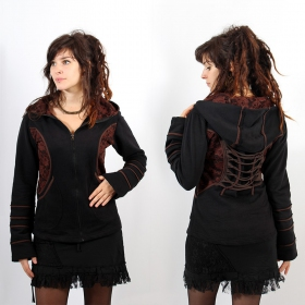 "Jacket ""Avkash\"", Black Brown lace"