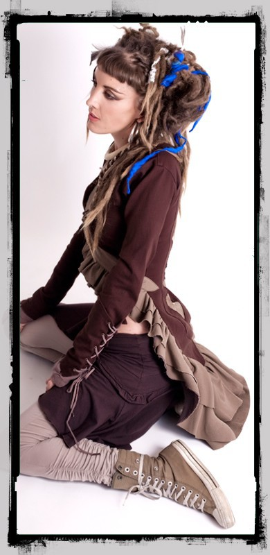 "Jacket \""cyber goth\\\"" fairy floss, brown"