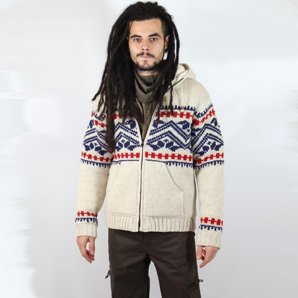 """Jacket \\\""""omatsu\\\"""" wool and fleece, beige"""