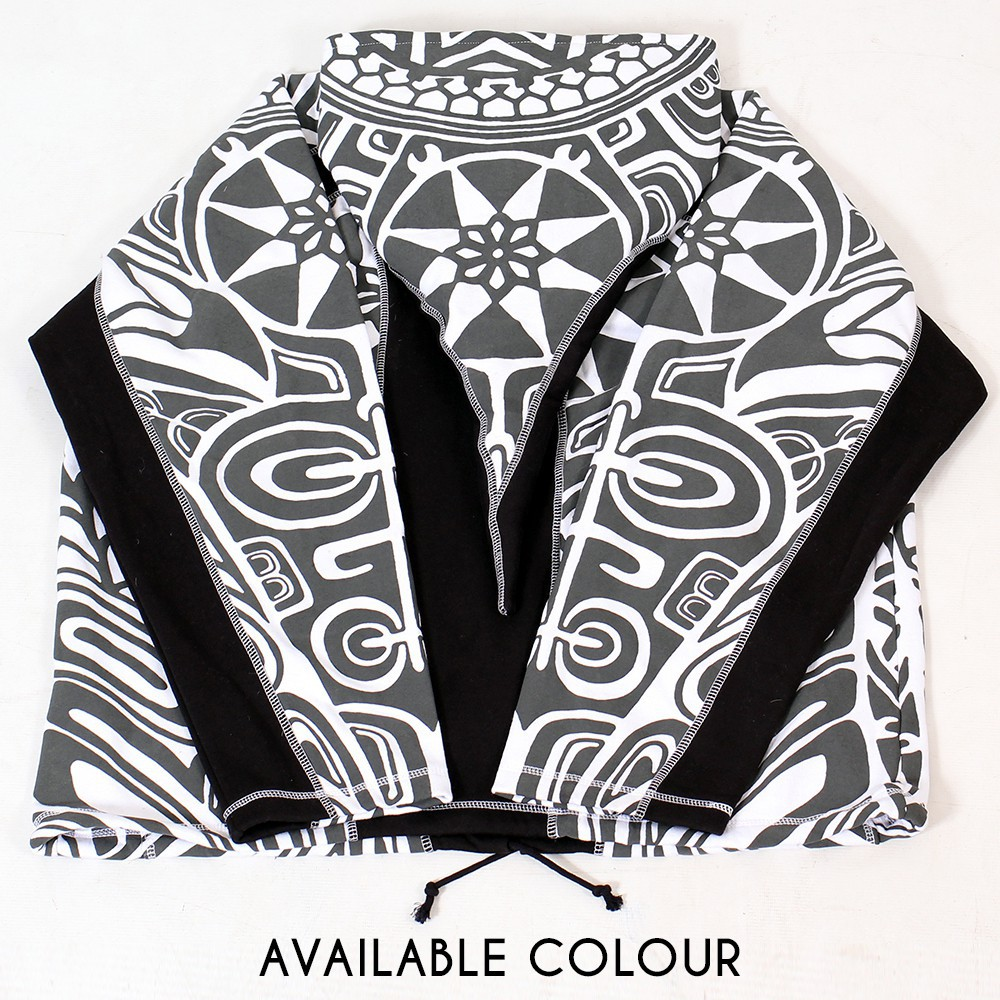 "Jacket dwarfhood GadoGado ""Manutahi"", White black"