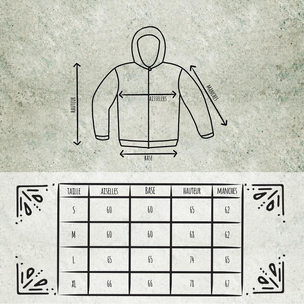 "Jacket roundhood GadoGado \\\""Krios\\\"", Black grey"