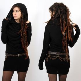 "\""Kali\"" mid season pullover dress, Black"