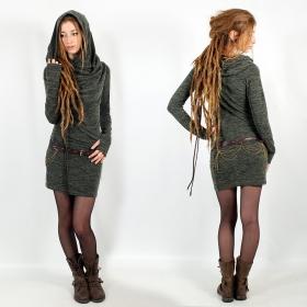 "\""Kali\"" mid season pullover dress, Lichen green"