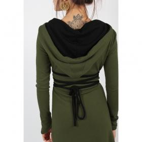 "\""Käliskä\"" dress, Khaki and Black"