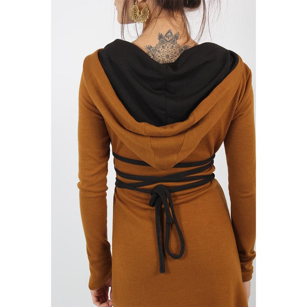 "\""Käliskä\"" dress, Rusty and Black"