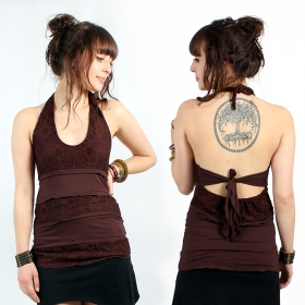 """Kayno\"" top, Brown"