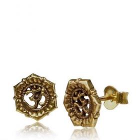 "\\\""Kukhri Ohm\\\"" earrings"