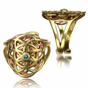 "\""Kvanh Flower of Life\\\"" ring"