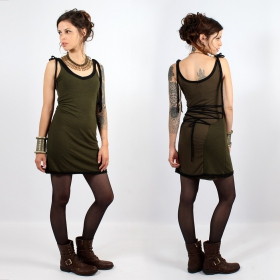 "\""Kyä\\\"" Yggdrazil dress, Kaki black"