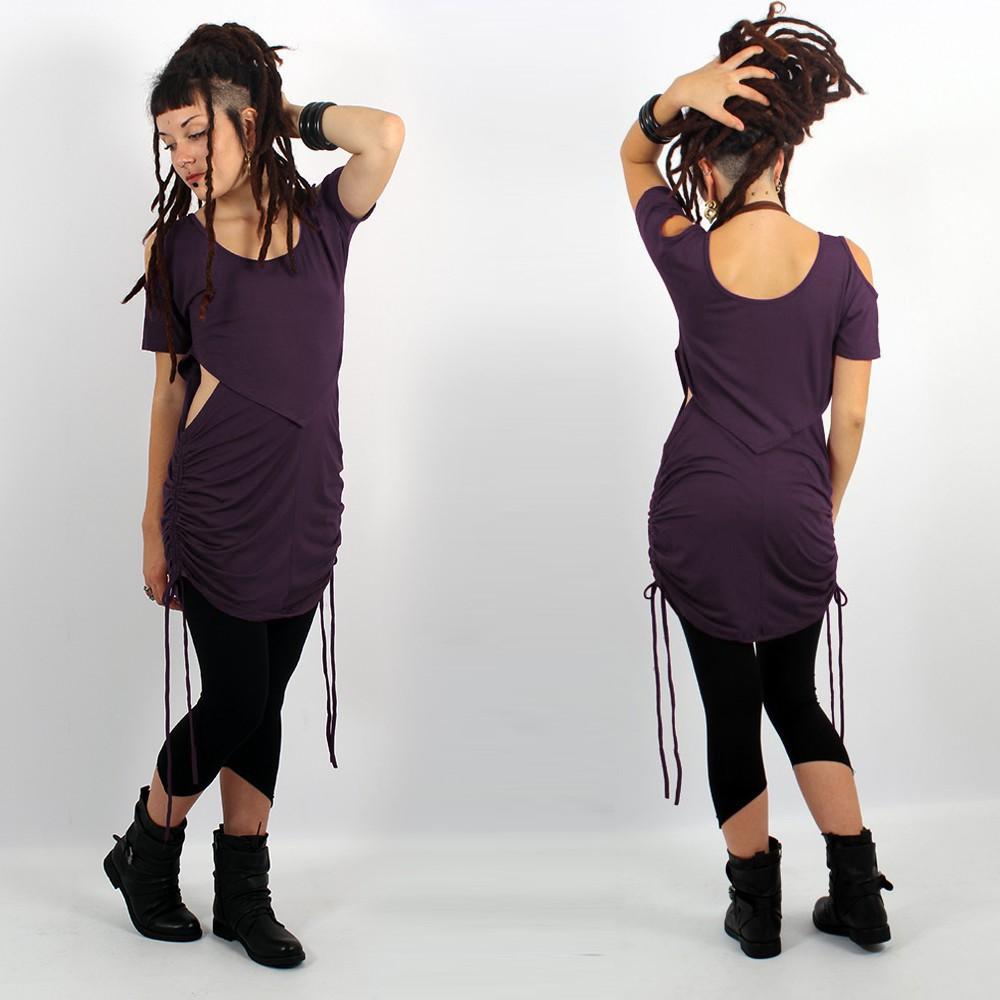 "\""Laality\"" tunic-dress, Dark purple"