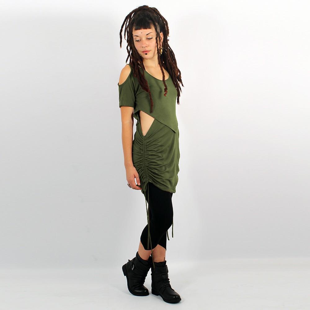 "\""Laality\"" tunic-dress, Khaki"