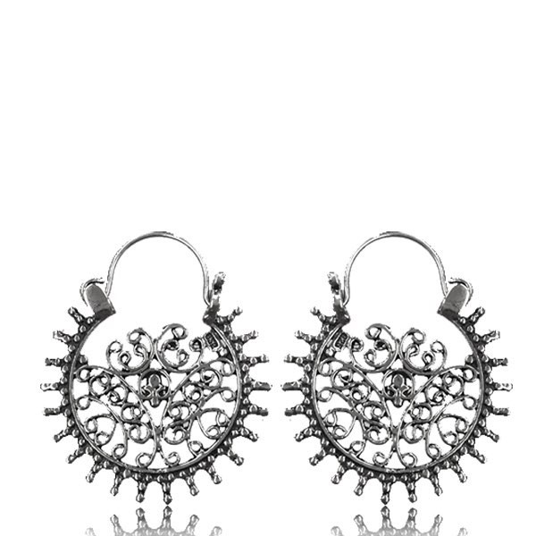 "\""Laksha\\\"" Silver earrings"