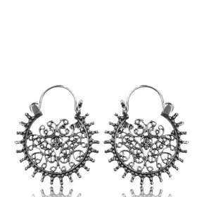 "\\\""Laksha\\\"" Silver earrings"