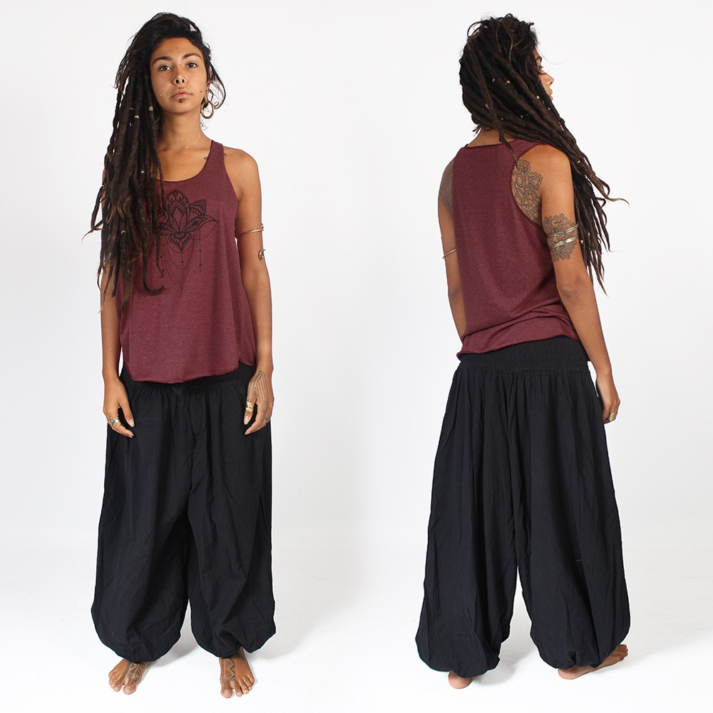 """Layto\"" harem pants, Black"