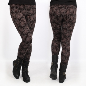 "Leggings ""Hatha Samouraï\"", Marrón"