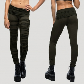 "Leggings largas ""Jiko\"", Verde caqui"