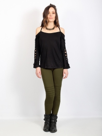"Leggings largos ""Lilith\"", Verde caqui"