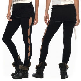 "Leggings largos ""Skirted\"", Negro"