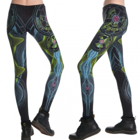 "Leggings UV ""Neuron\"", Negro"