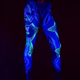 """Leggings UV \""""Neuron\"""", Negro"""
