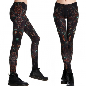 "Leggings UV ""Star System\"", Multicolor"