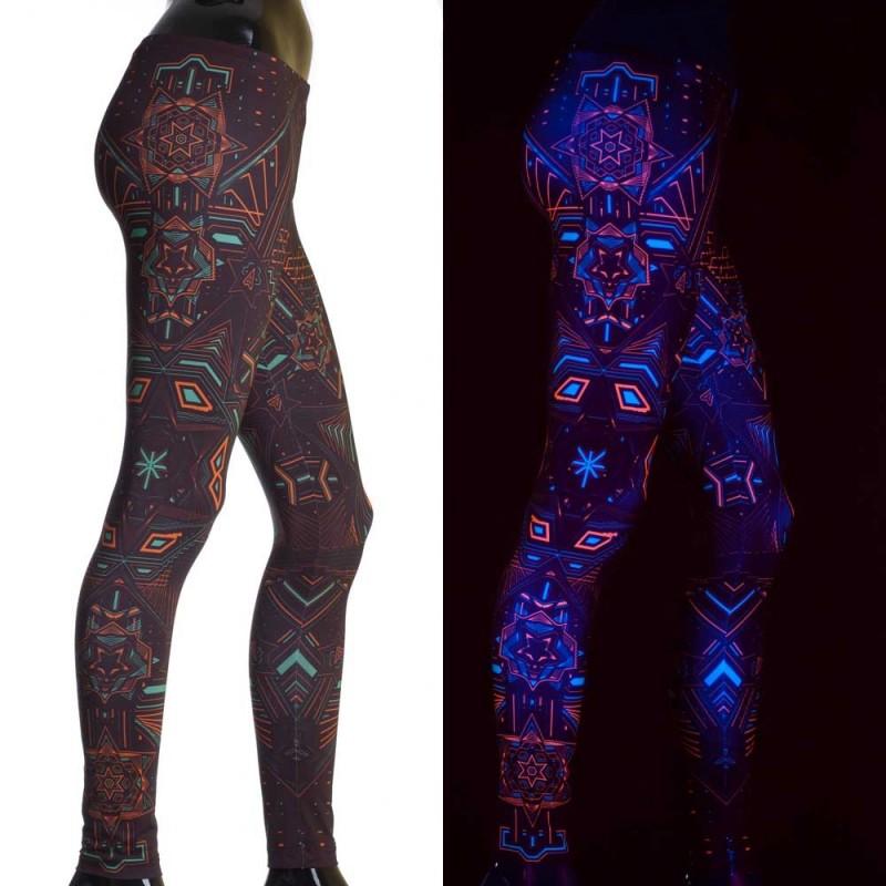 """Leggings UV \""""Star System\"""", Negro"""