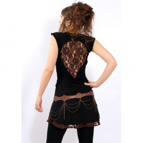 "Liloo Dress \""Jadeite\"", Black brown"