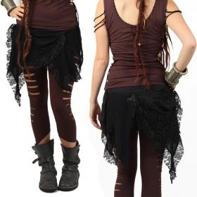 """Liloo Skirt """"Chibi Moon"""", Plain Black"""