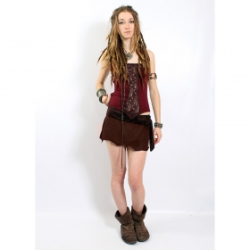 "Liloo Skirt \""Utopia\\\"", Deepred brown"