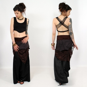 "Liloo Skirt ""Utopia\"", Plain black brown lace"