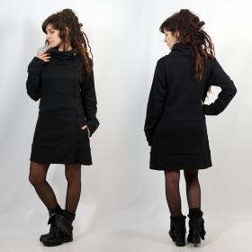 "Long jacket \""Thanya\"", Plain black"