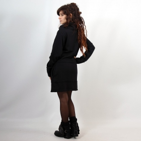"Long jacket ""Thanya\"", Plain black"