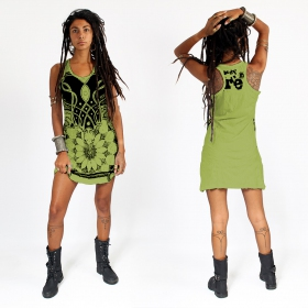 "\""Lotus\"" dress, Apple green"