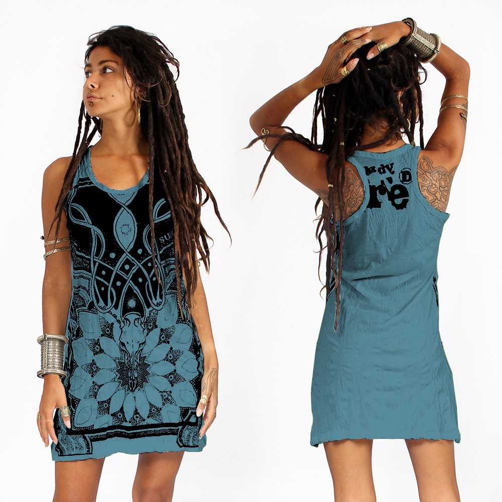 """Lotus\"" dress, Blue"