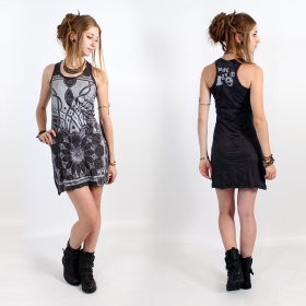"\""Lotus\\\"" dress, Dark grey and silver"
