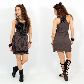 "\""Lotus\\\"" dress, Taupe"