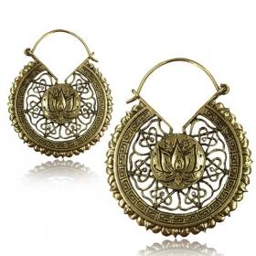 "\\\""Lotus mandala\\\"" brass earring"