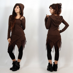 "Luna tunic dress \""Knit Anya\"", Brown"