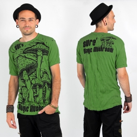 """Magic mushroom\"" T-shirt, Green"