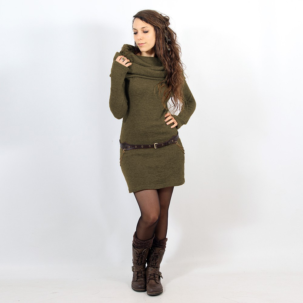 "\""Mantra\\\"" pullover dress, Khaki"