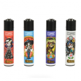 Mechero Clipper Mayas Calavera Catrina
