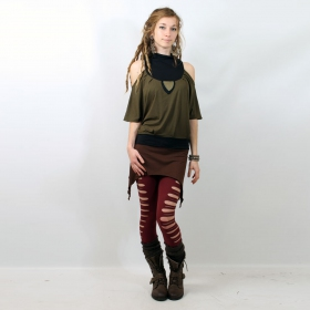 """Mini skirt \\\""""double pointed\\\"""", brown"""