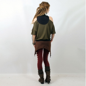 "Mini skirt \""double pointed\\\"", brown"
