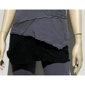 "Mini skirt Luna \""Patchwork\"", Black"