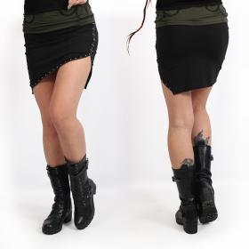 "Minifalda Psylo \""Zip\"", Negro"