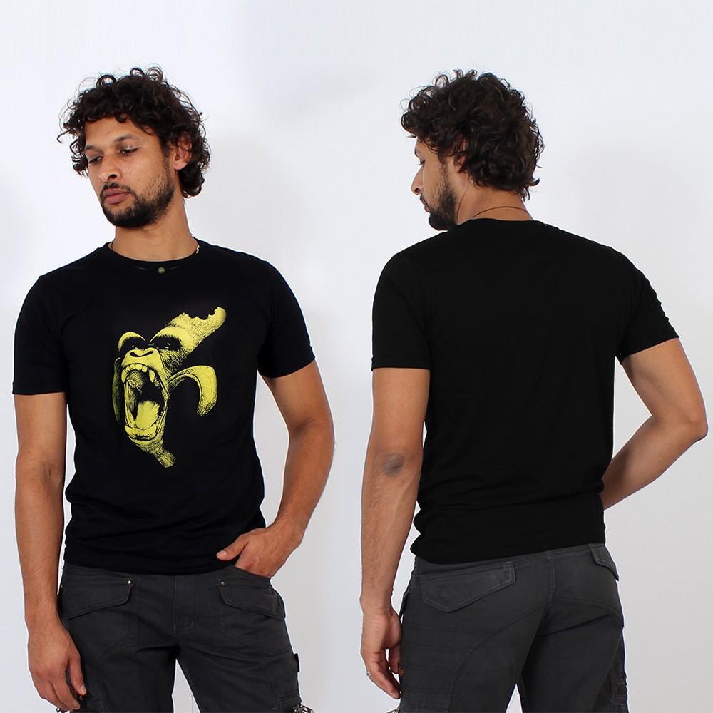 "\""Monkey Banana\"" t-shirt, black"