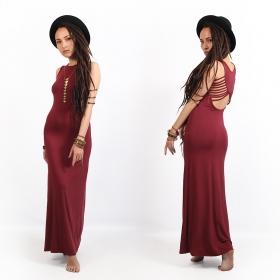 "\""Nayantara\"" long dress, Wine"