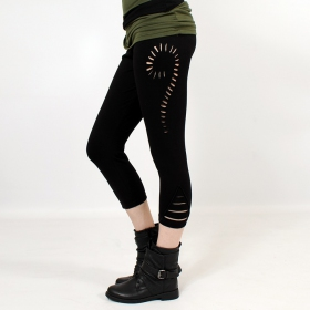 """Niram\"" 3/4 leggings, Black"